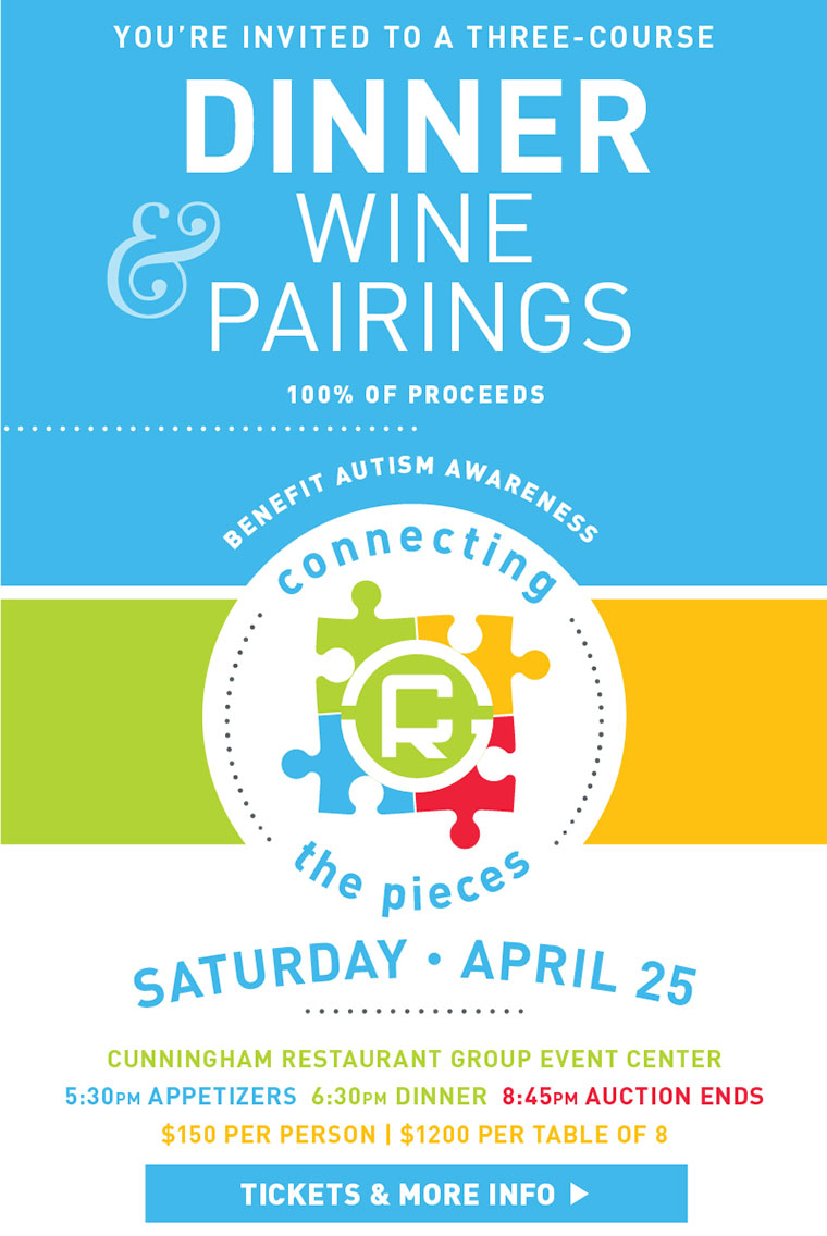 Dinner with Wine Pairings Benefiting Autism Awareness